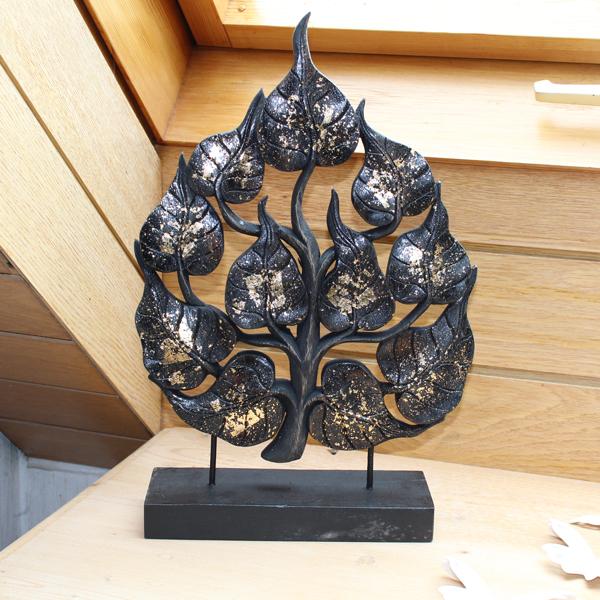 Deko skulptur baum schwarz livingapart Deko schwarz