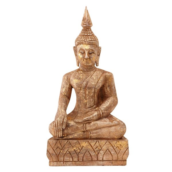 deko statue buddha sitzend holz livingapart. Black Bedroom Furniture Sets. Home Design Ideas